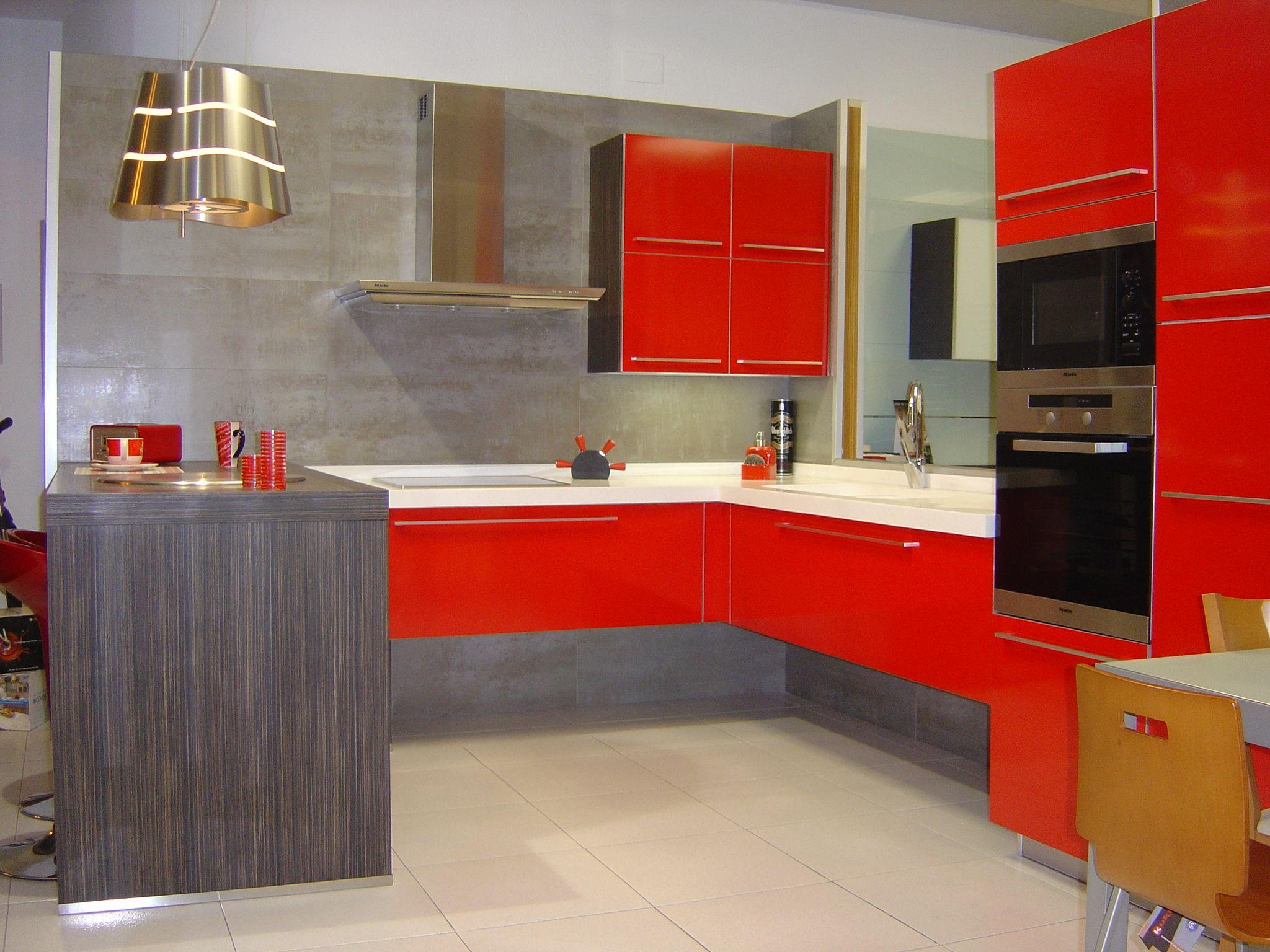 Cocina roja cocina cocinas rojas pinterest - Cocinas rojas ...