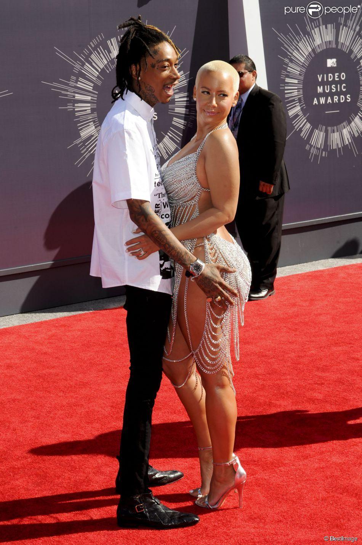 Wiz Khalifa et Amber Rose en couple aux MTV Video Music Awards à Los Angeles, le 24 août 2014.
