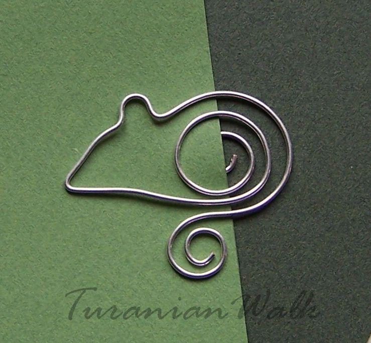 Little mouse - bookmark | Draht, Basteln mit draht und Metall