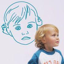 Wall sticker, m. portræt af dit barn