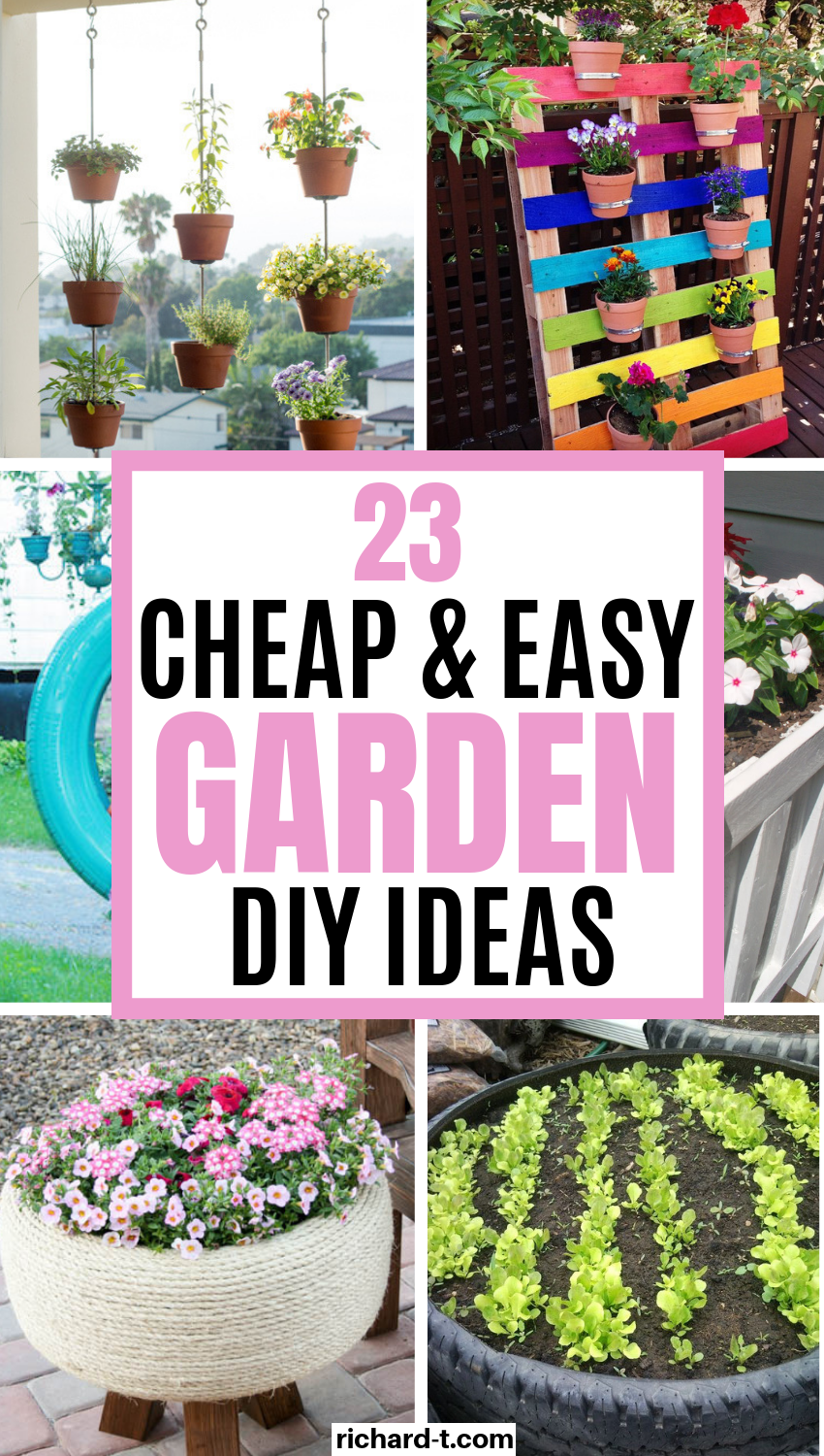 19 Awesome DIY garden ideas perfect for your home! Cheap, easy and