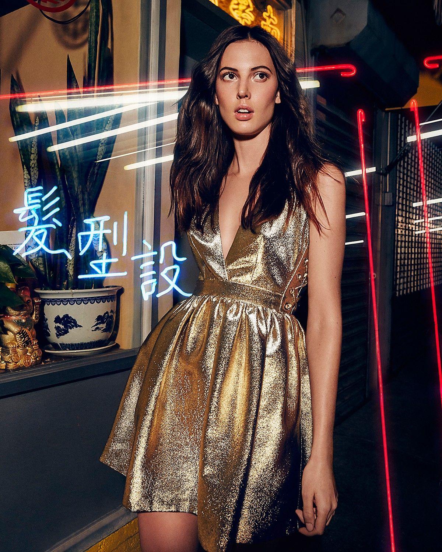 Sandro Goldie Metallic Dress 100 Bloomingdales Exclusive