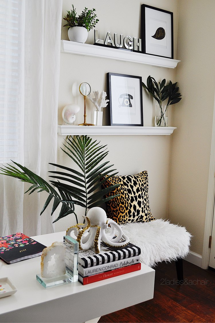 Home Office Refreshed — 2 Ladies & A Chair #officedecor #officeideas #decor