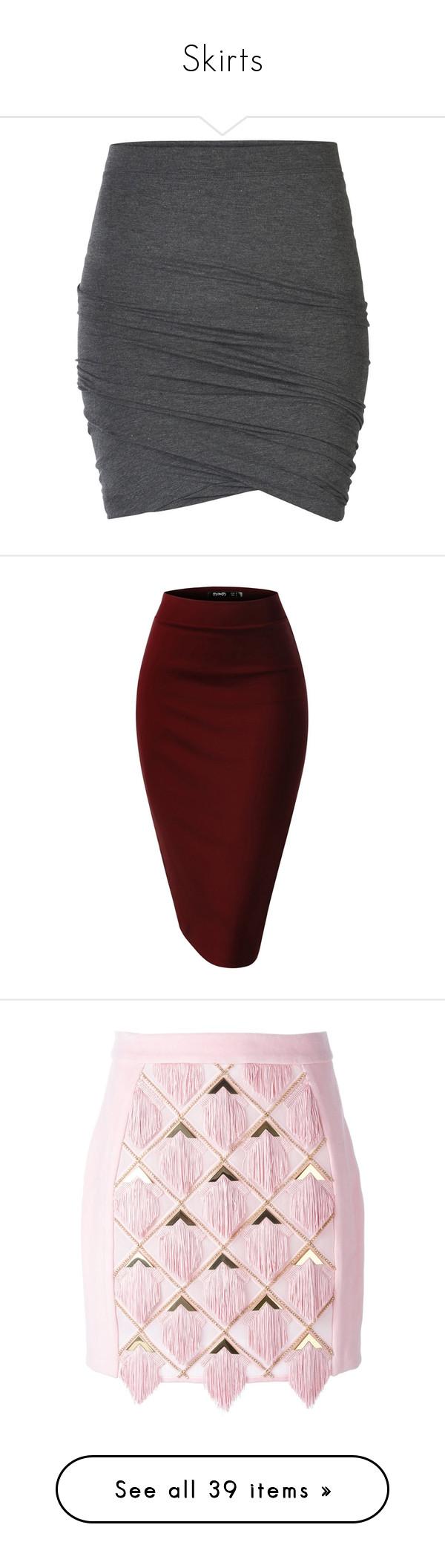 """Skirts"" by riniecias ❤ liked on Polyvore featuring skirts, mini skirts, bottoms, saias, faldas, dark grey melange, short miniskirt, short skirts, short mini skirts and elastic mini skirt"