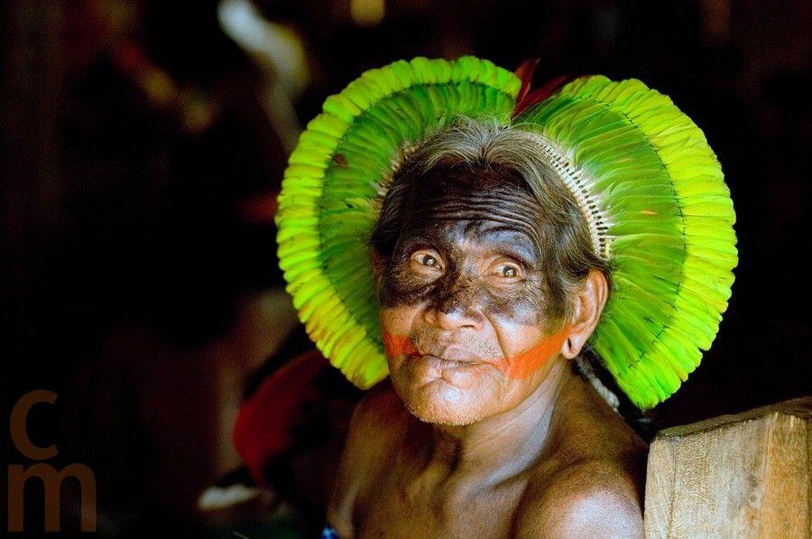 Kayapo chief during Kayapo Leadership Summit 2006, Meeting, Kayapo village, Indigenous Community, Brazil; South America.