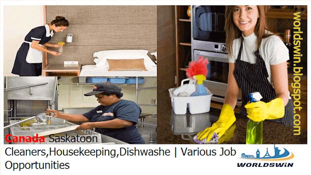 Cleaners Housekeeping Dishwasher Jobs In Saskatoon Canada Room Attendant Job Housekeeping