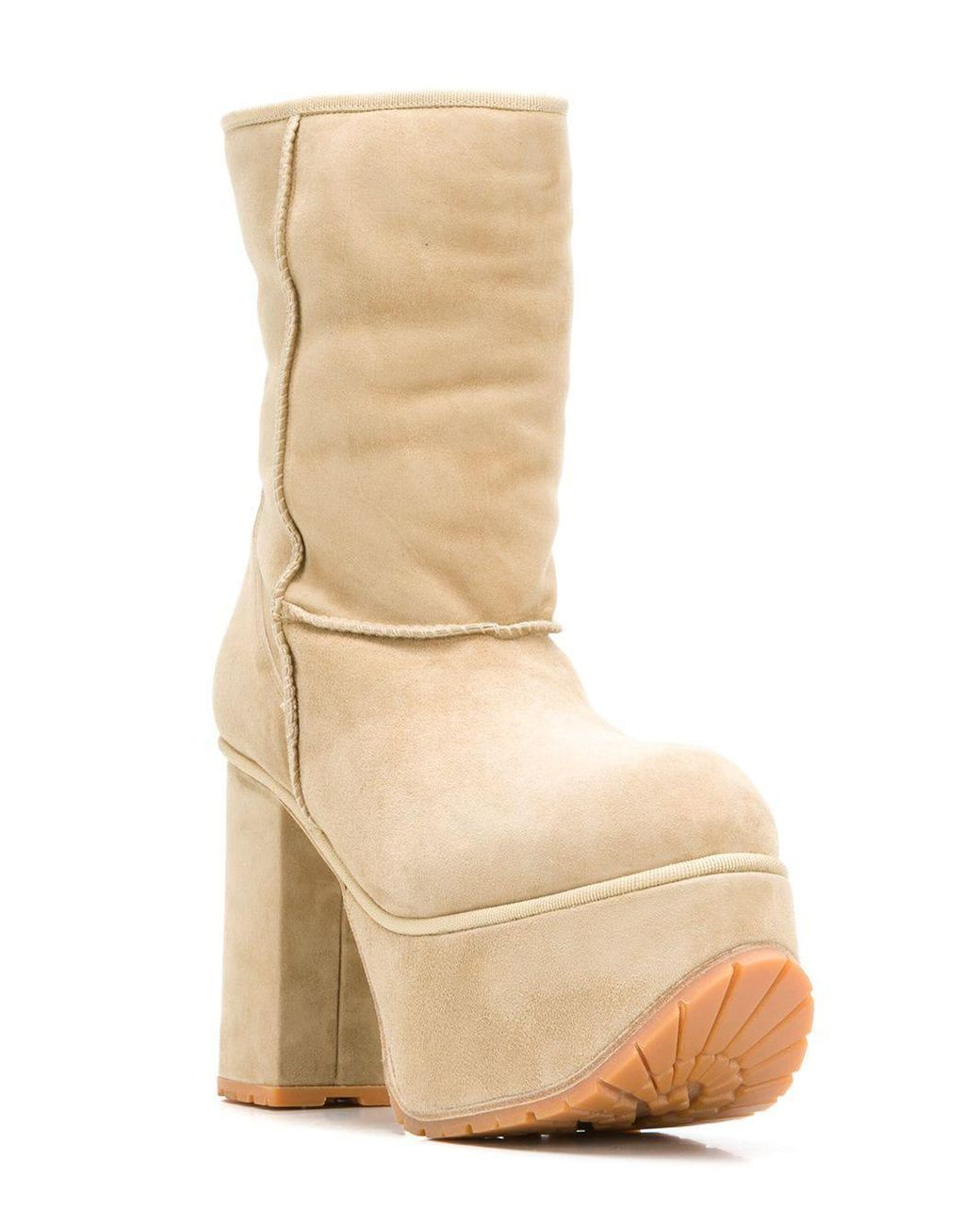 Lyst - R13 Platform Boots in Natural