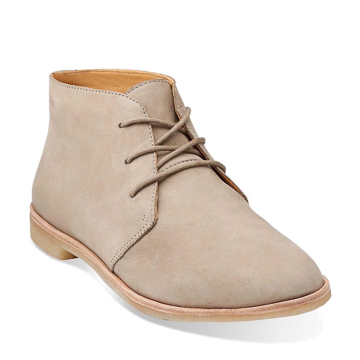 Womens Boots Clarks Phenia Desert Sand Nubuck