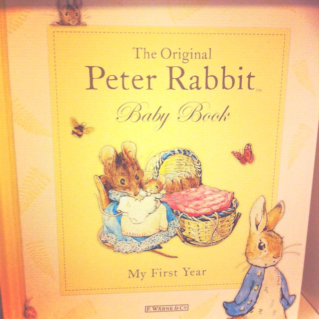 No Peter rabbit themed nursery is complete without this baby book.