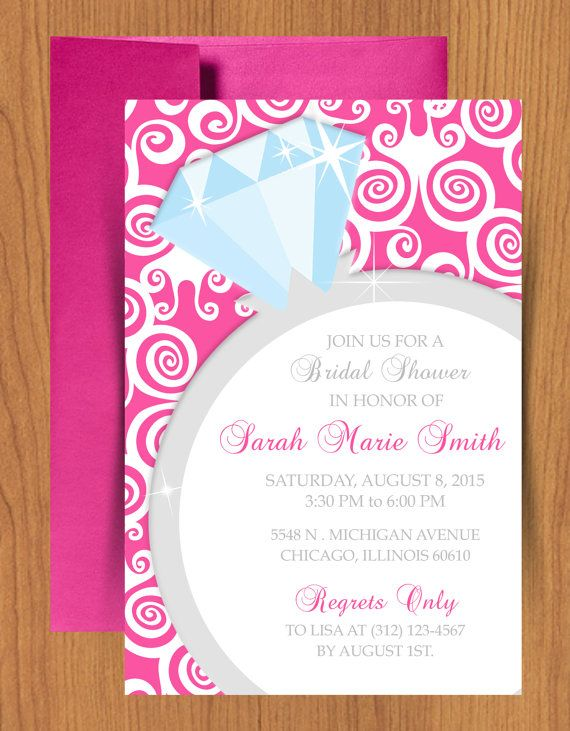 bridal shower templates word
