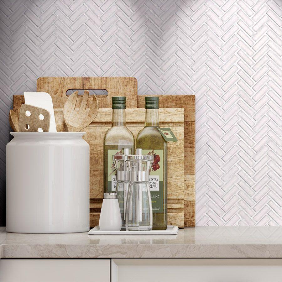Shop Elida Ceramica Chelsea White Ceramic Mosaic Scale