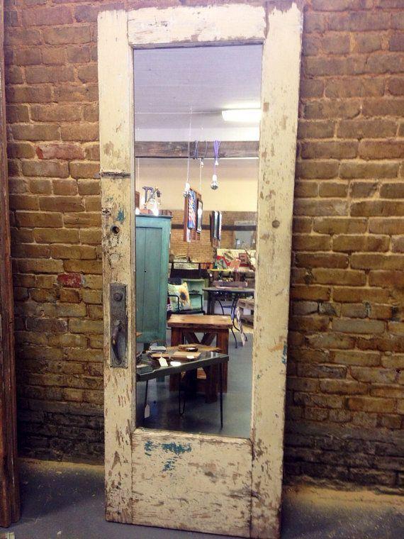 antique door mirror