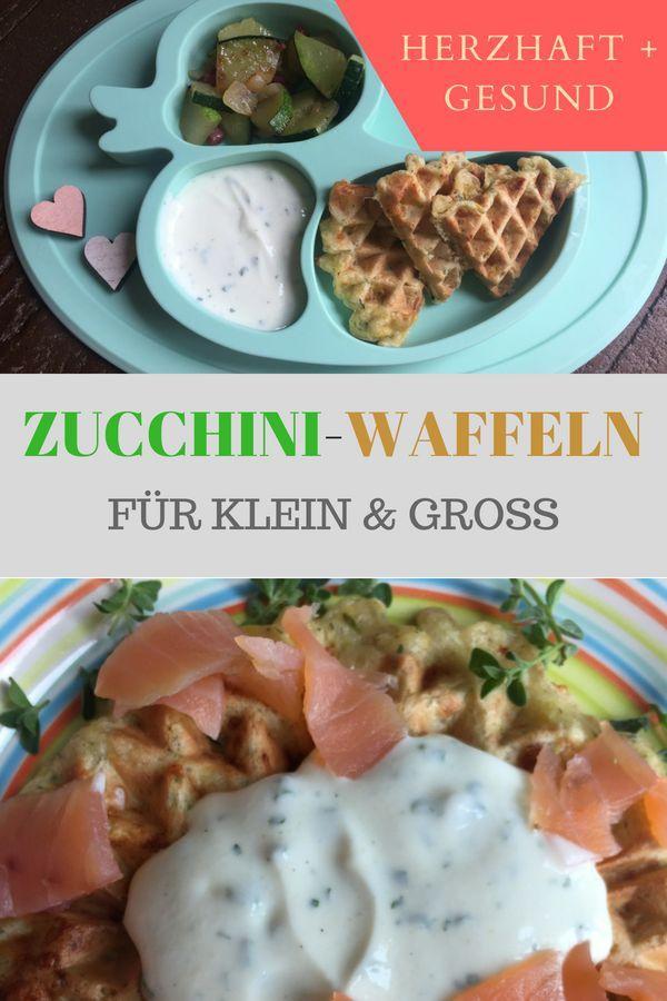 Rezept für herzhafte Waffeln mit Zucchini (baby-tauglich)