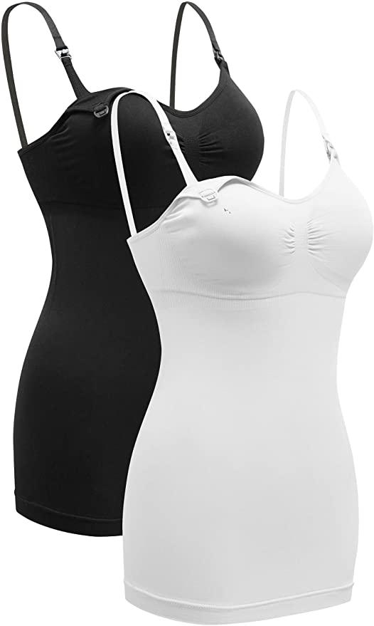 TOUCH LOOM Nursing Tank Tops Maternity Tank Tops Built in Bra for Breastfeeding with Adjustable Straps for Womens