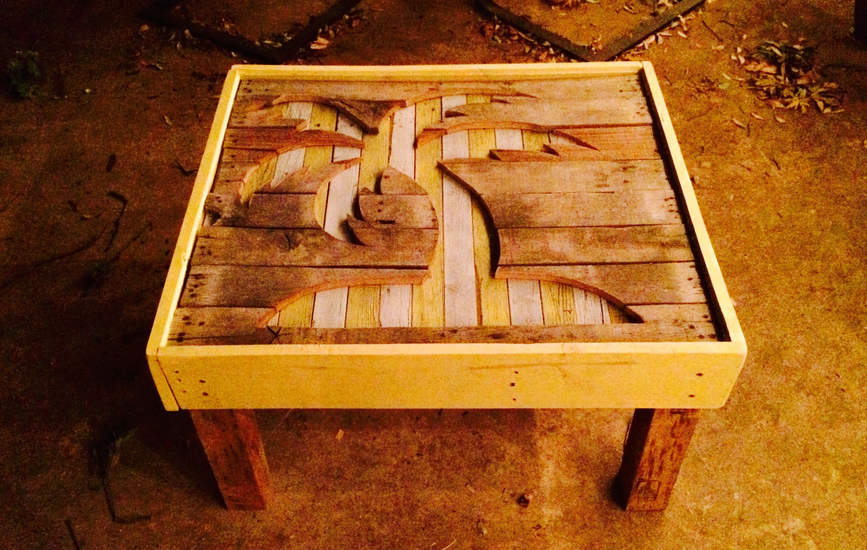Palm Tree Silhouette Coffee Table Furniture Making Wood