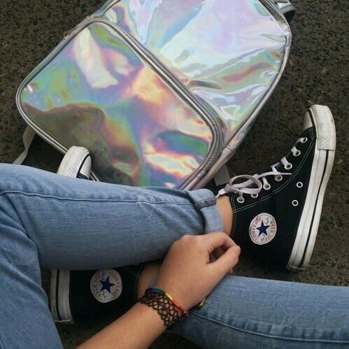Girls in Chucks (Converse) | via Tumblr on We Heart It