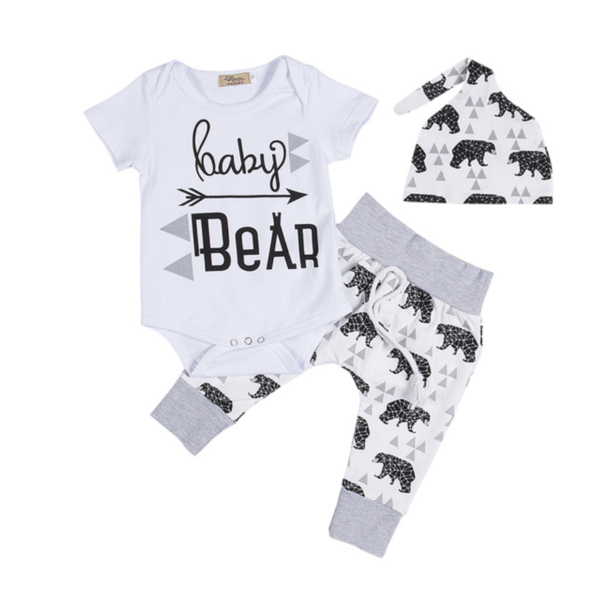 318374d28 Baby Bear 3pc Set | baby | Baby bear outfit, Cute newborn baby ...