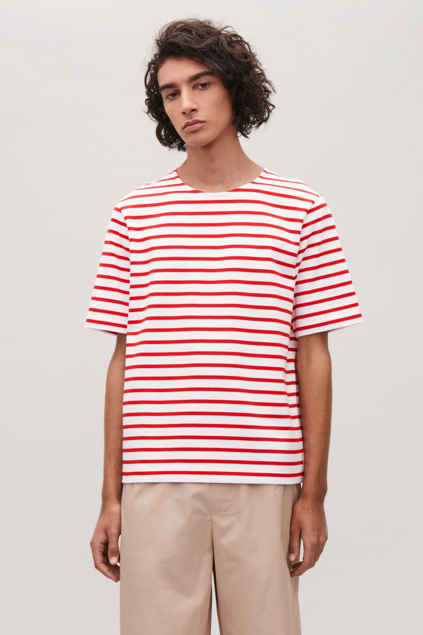 2298331d9 Cos Breton-Striped T-Shirt - Red / White S | Products | Breton ...