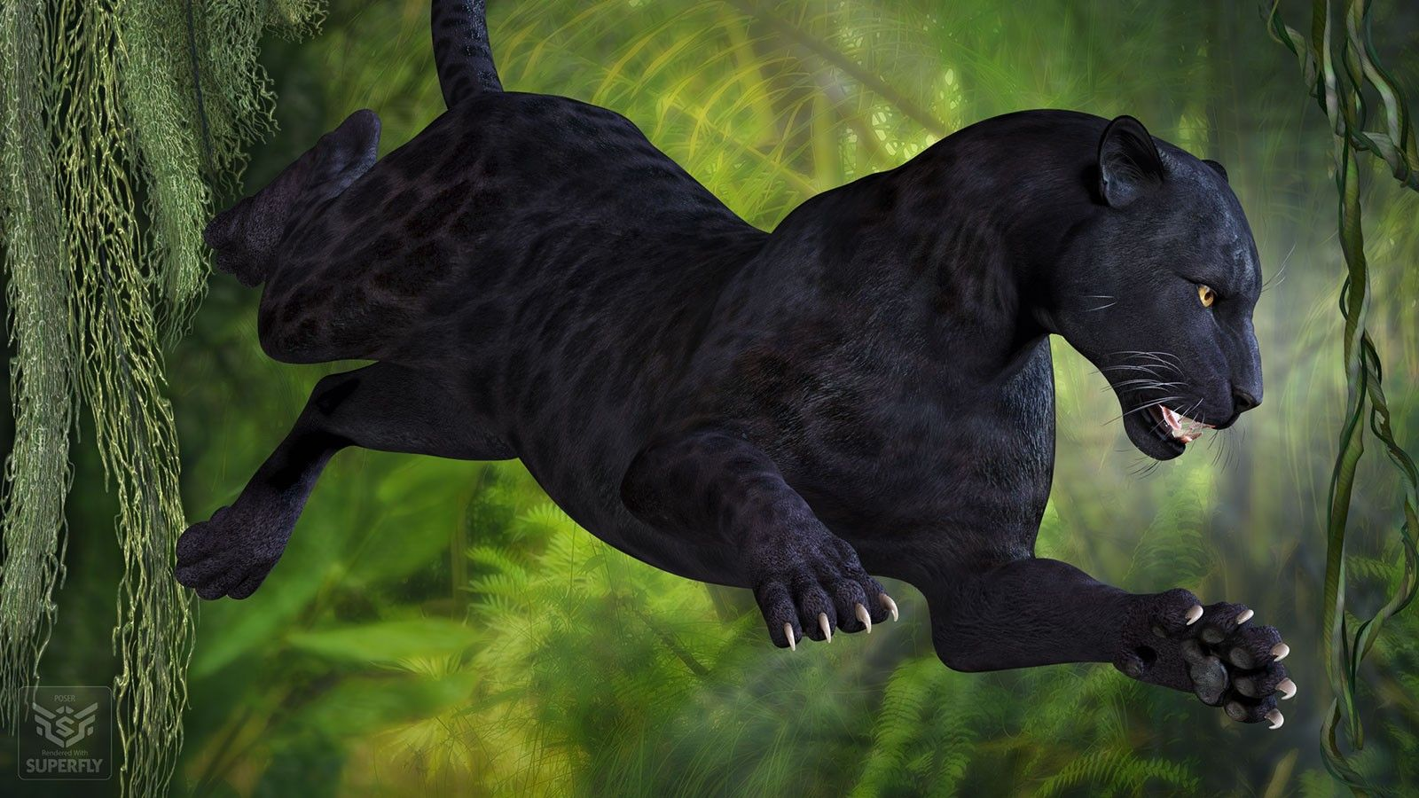 CWRW Black Panther For HWD Big Cat D Models And D Software By - Fascinating 3d renderings of people and animals by maxim shkret