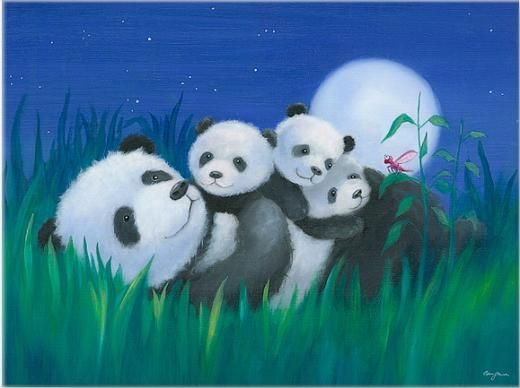 Panda Hugs By Genny Haines