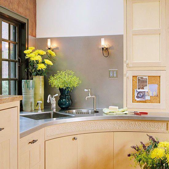 Corner Sink Kitchen, Kitchen Sink Design, Kitchen