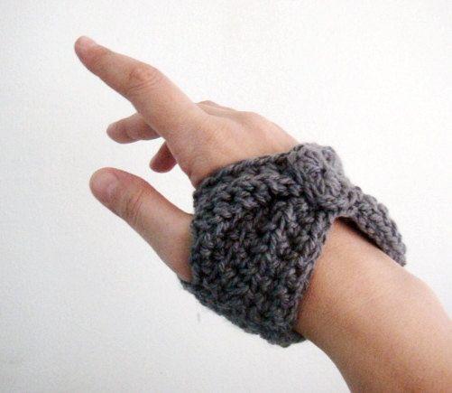 Pdf Crochet Pattern Short Length Fingerless Gloves Wrist Warmers 11