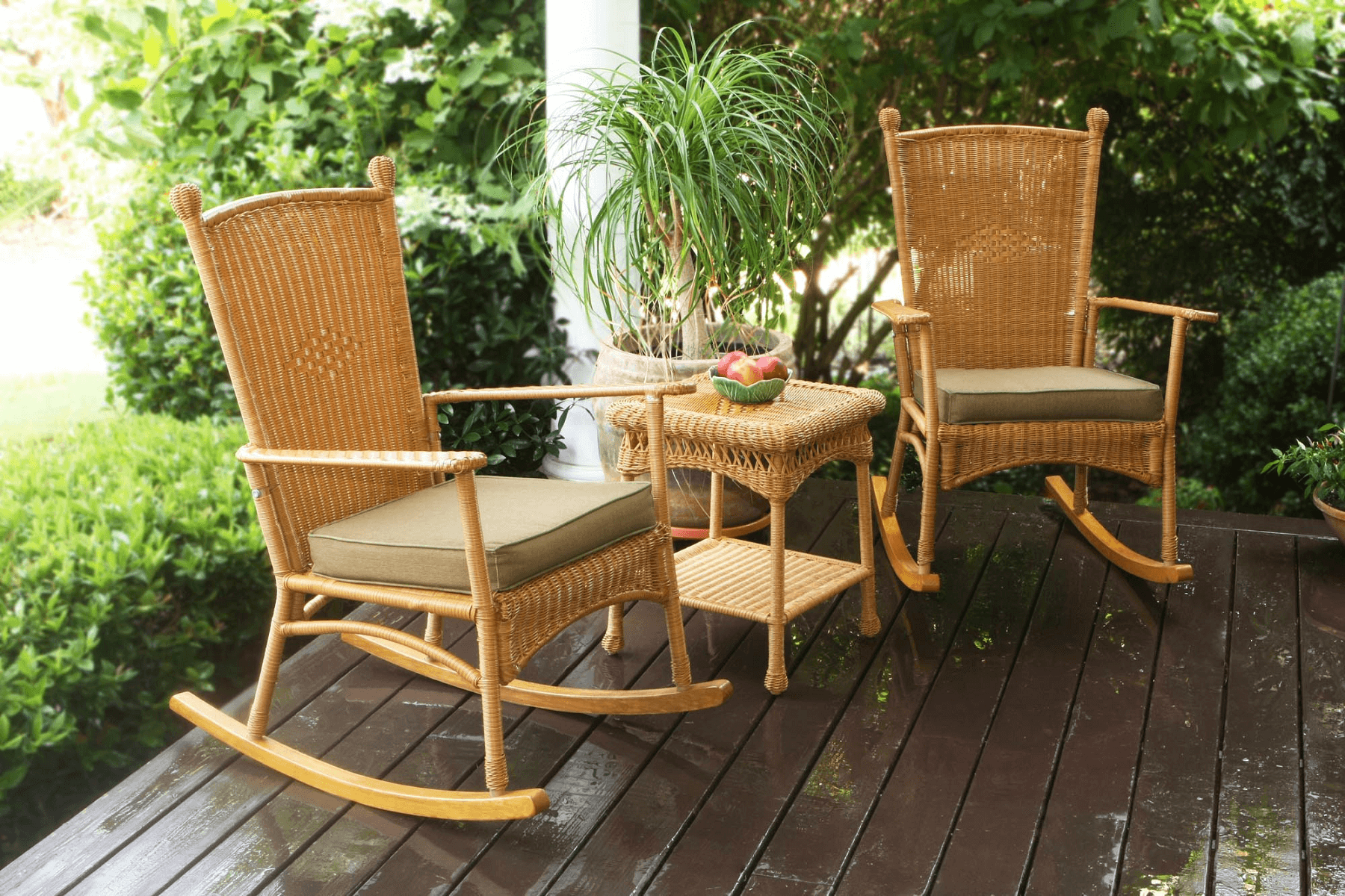 Outdoor front porch with rocking chairs Rocking chair
