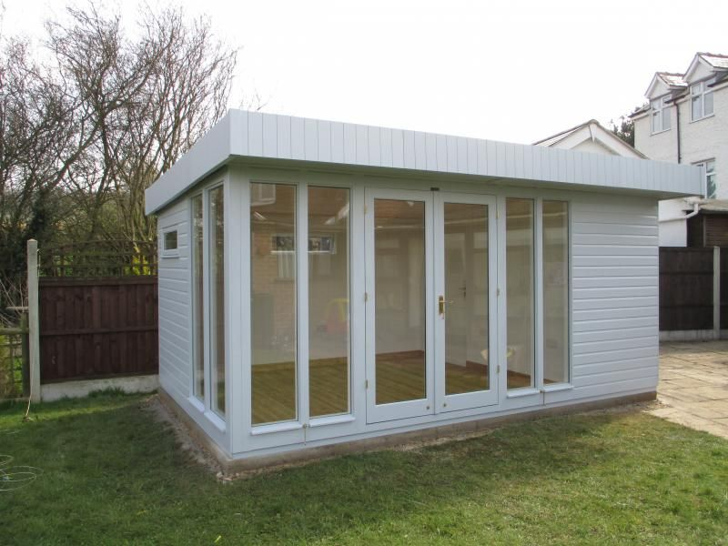 garden studio installed in nottingham this salthouse garden studio in newthorpe nottingham fits wonderfully in