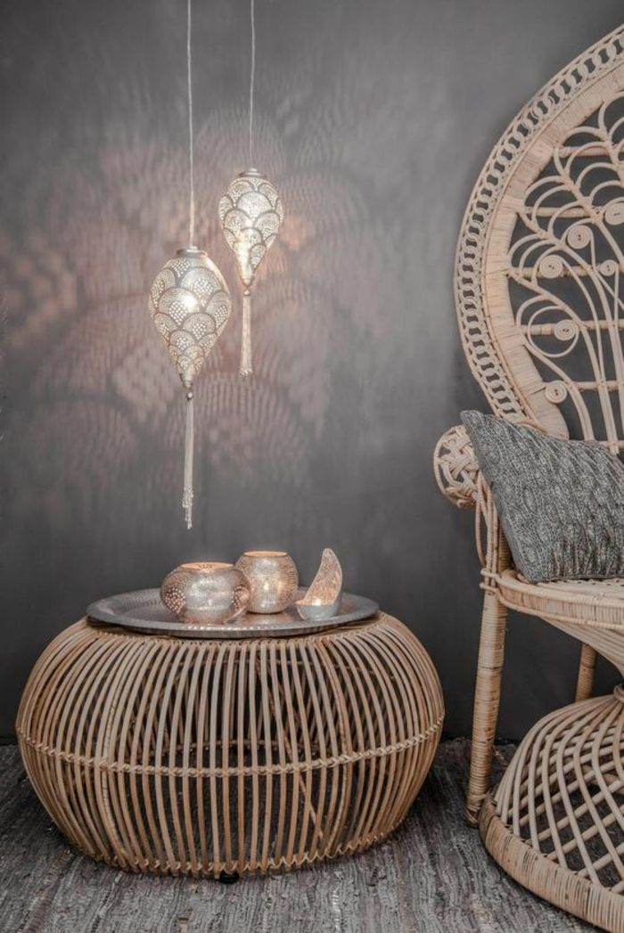 des lampes suspendues orientales pour une ambiance. Black Bedroom Furniture Sets. Home Design Ideas