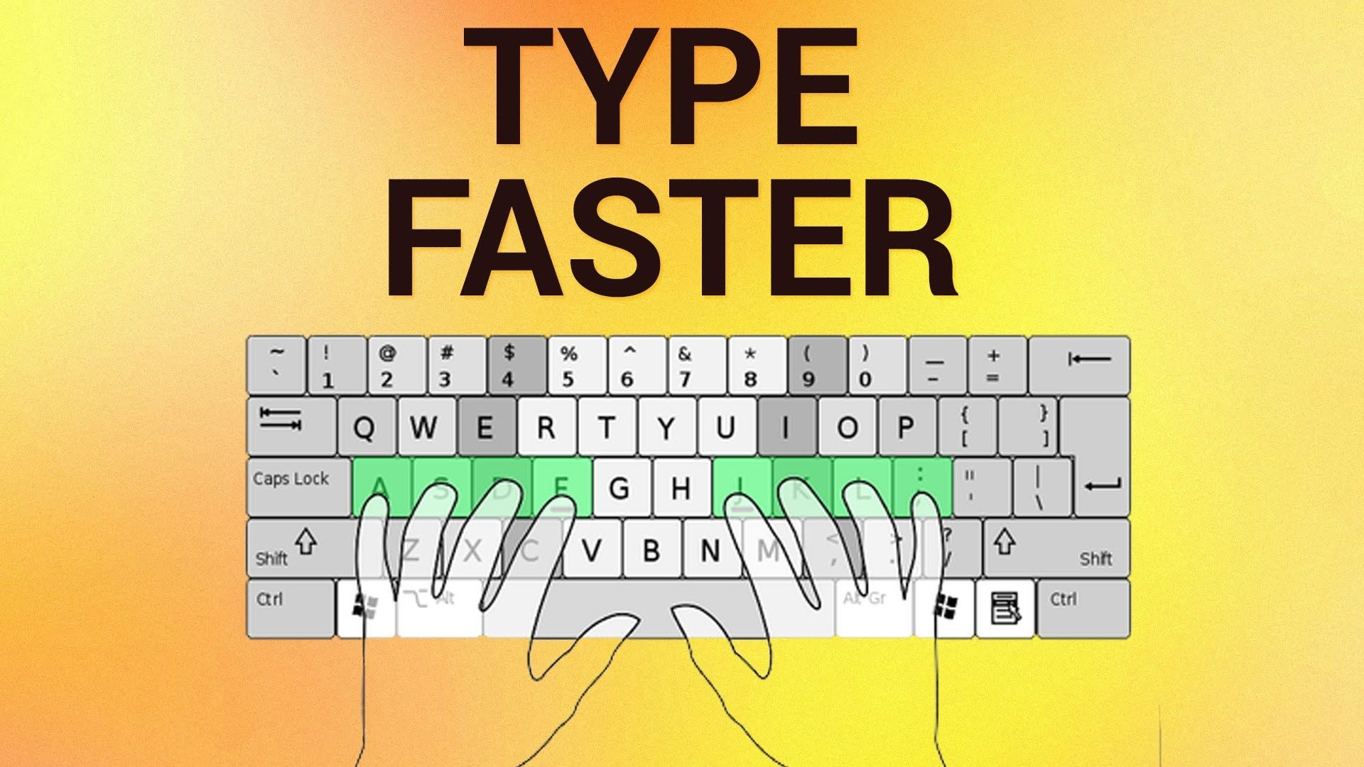 How To Type Without Looking At The Keyboard