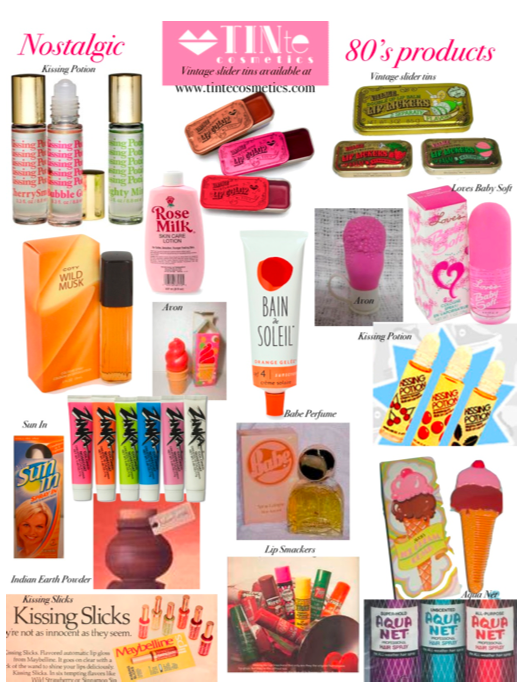 products from the 80's 80's Nostalgic Beauty Products