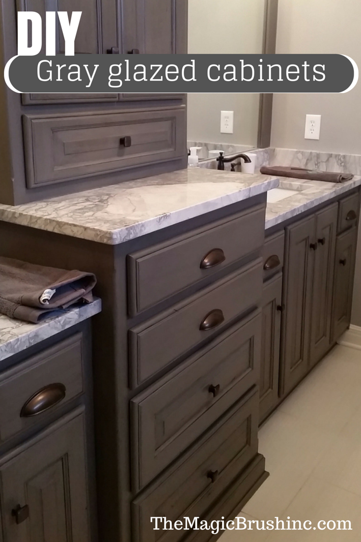 Beautiful Painted Cabinets Glazed By The Magic Brush Basecolor Is Sherwin Williams Gauntlet Gray Sw 7019 And Home Outdoor Kitchen Countertops Home Kitchens