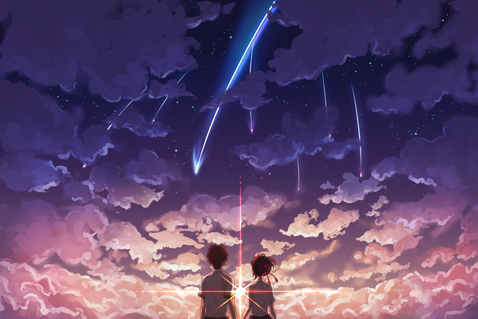 Makoto Shinkai Kimi No Na Wa Wallpaper Full Hd Free Download Anime Personagens De Anime Cenario Anime