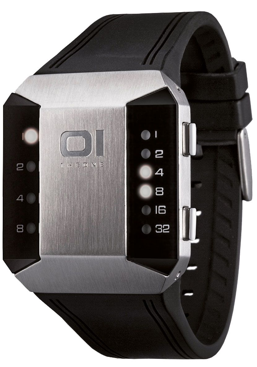 01 the One SC115W3 Split Screen Binary LED SPLIT SCREEN Stainless Steel  Binary LED A eye catching LED watch that displays the time using binary  format. bddc9d1c446