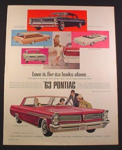 Magazine Ad For '63 Pontiac Cars, Strato-Chief Safari