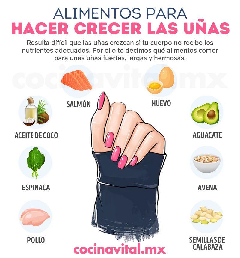 Alimentos Para Hacer Crecer Las Uñas Crecer Las Uñas Tips De Belleza Naturales Remedio Para Pies Agrietados