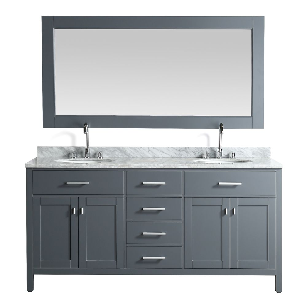 Design Element 72 In London Double Sink Bathroom Vanity Lowe S