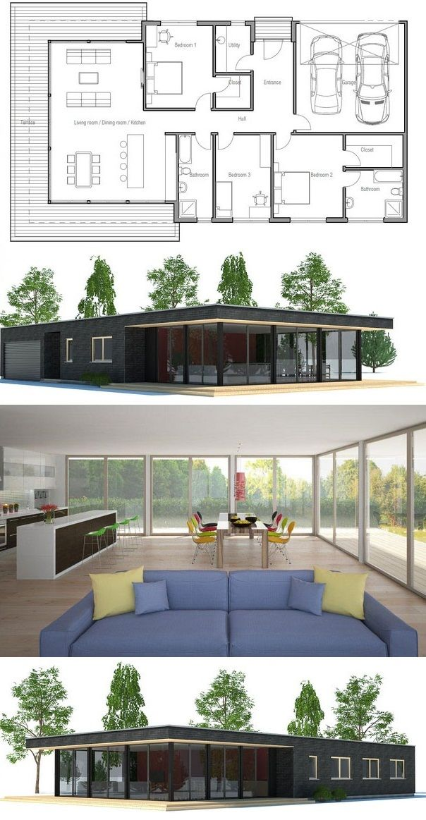 Floor Plan CH183 Homes in 2018 Pinterest House, House plans