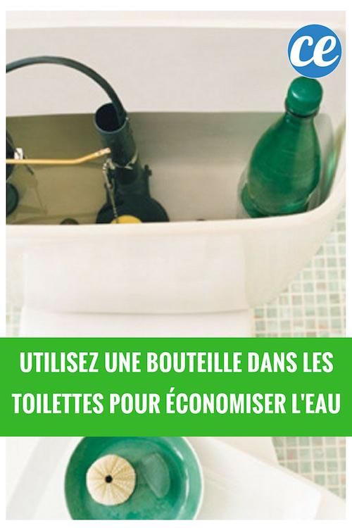 Utilisez Une Bouteille D Eau Dans Les Toilettes Pour Economiser De L Eau Bouteille Economiser L Eau Economies D Energie