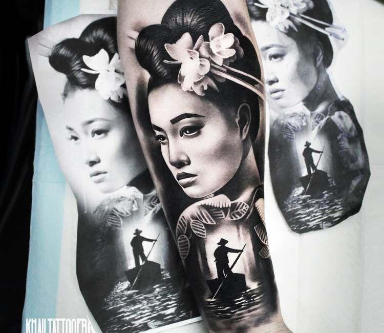 Geisha Tattoo By Khail Tattooer Retratos Tatoo Tattoos Geisha