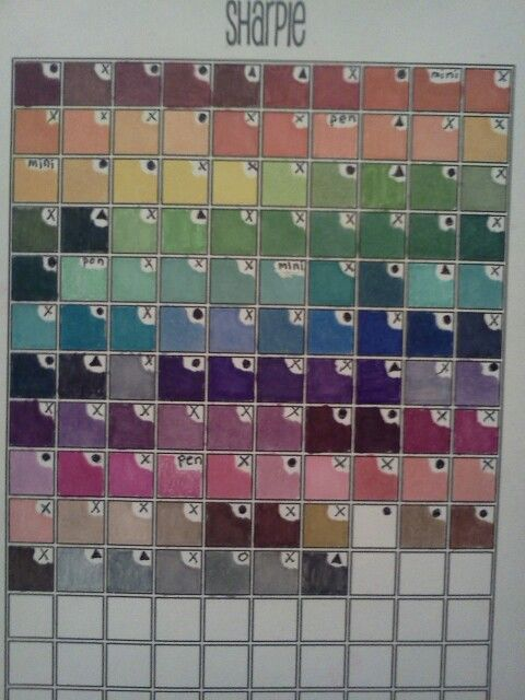 Sharpie Bic Mark It Color Chart Inside My Copic Journal Coloring Supplies Sharpie Coloring Pages