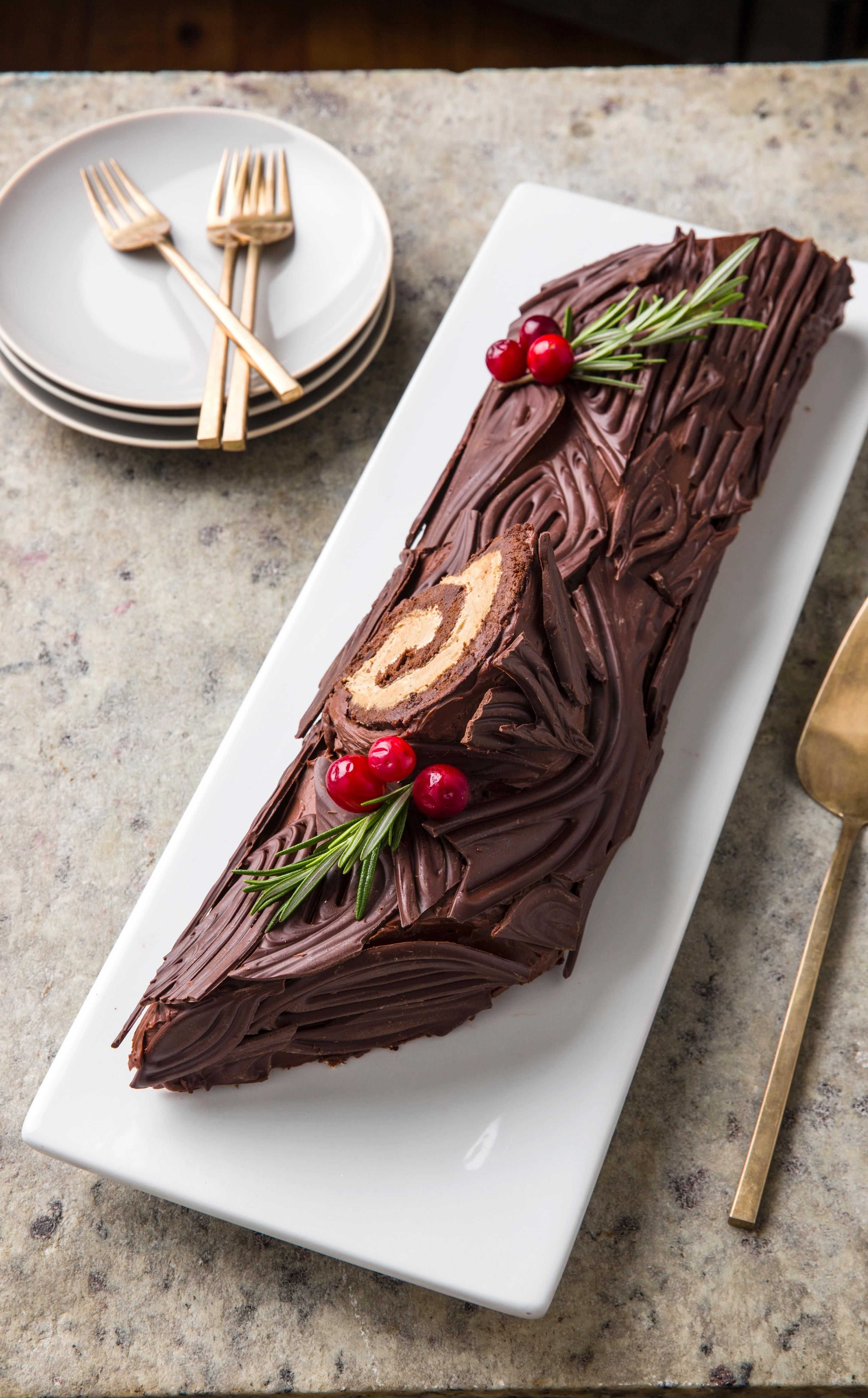 Yule Log. In terms of showstopping Christmas desserts, a