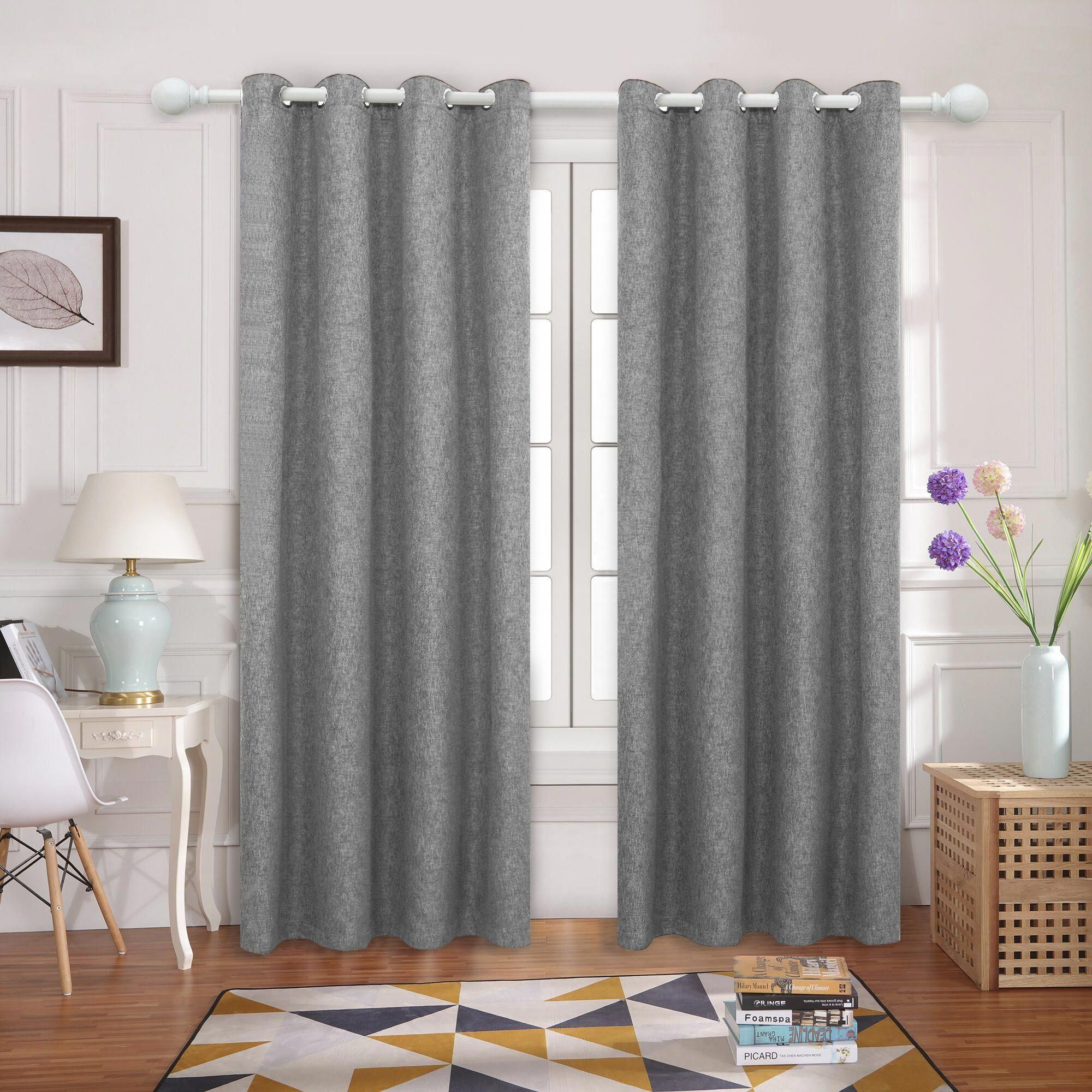 Blackout Drapes Thermal Insulated Linen Grommet Window Curtains Moderncurtains Curtains Blackout Drapes Drapes Grommet