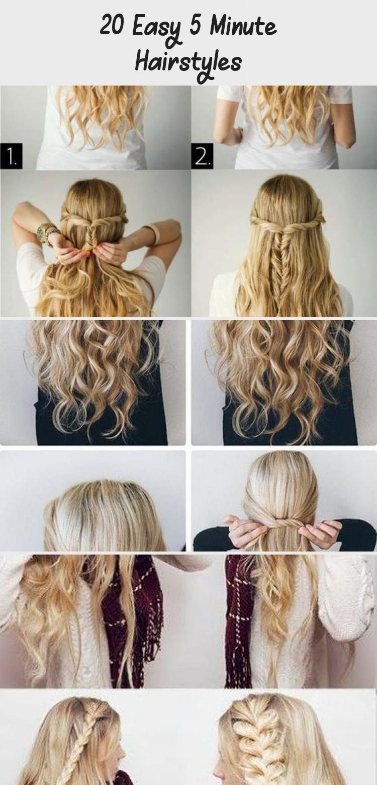 20 Easy 5 Minute Hairstyles Easyhairstylesforbeginners Easyhairstylesafricanamerican Easyhairstyles In 2020 Hair Styles 5 Minute Hairstyles Easy Everyday Hairstyles