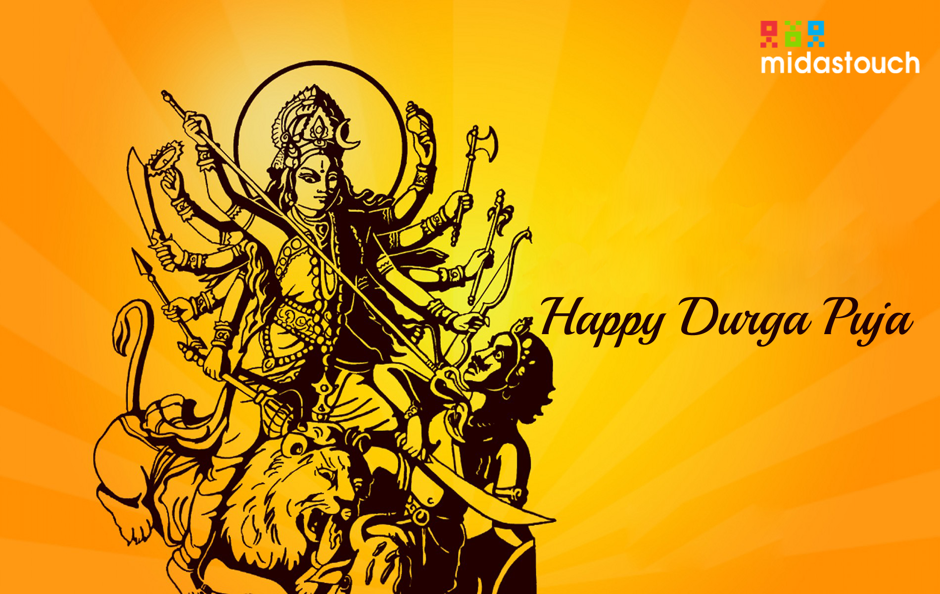 May the divine blessings of Maa Durga be with you today and forever.  Happy Navaratri