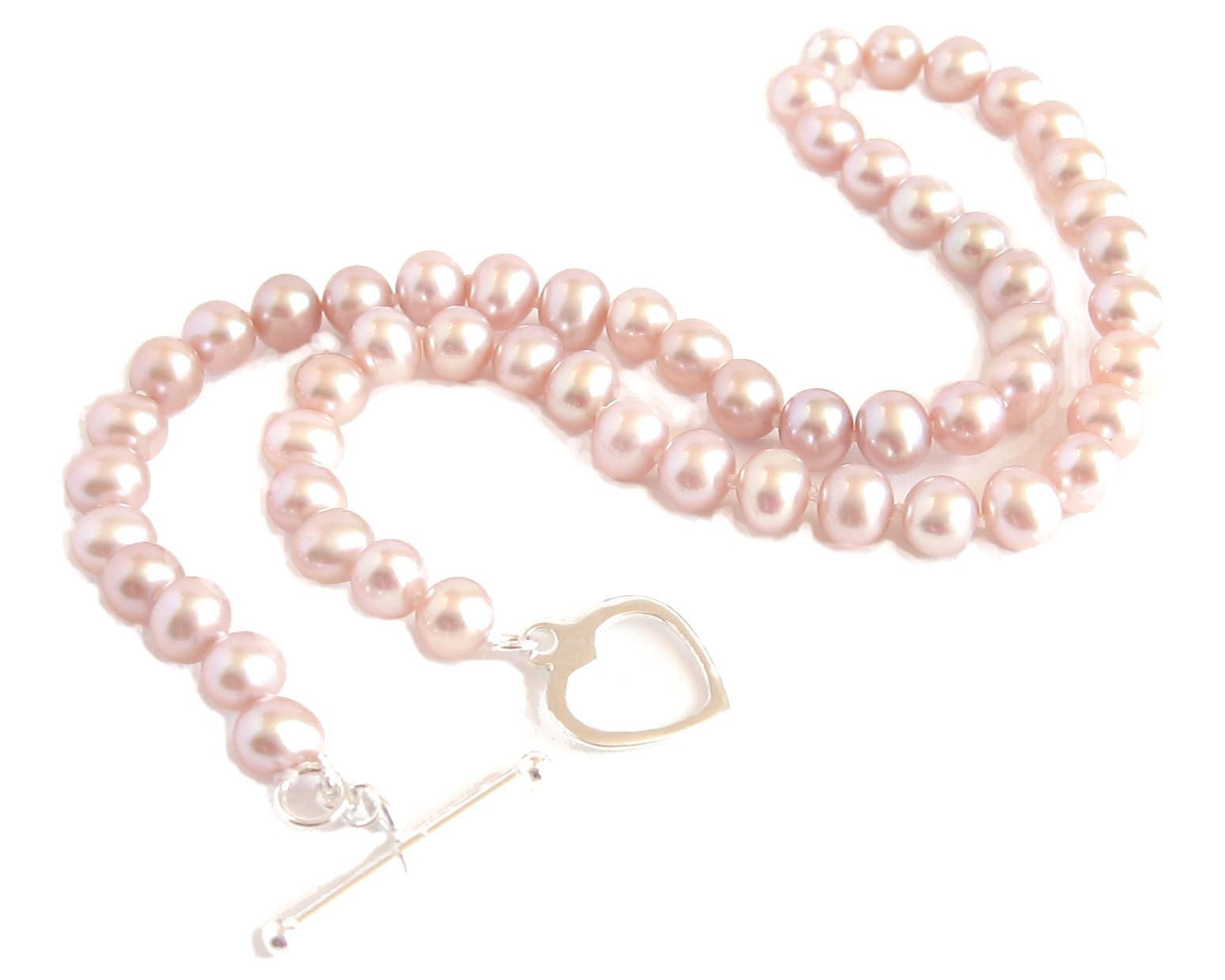 Pink (natural Color) Aaa Grade 6 Mm Pearl Necklace W