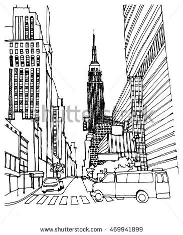 how to draw new york state