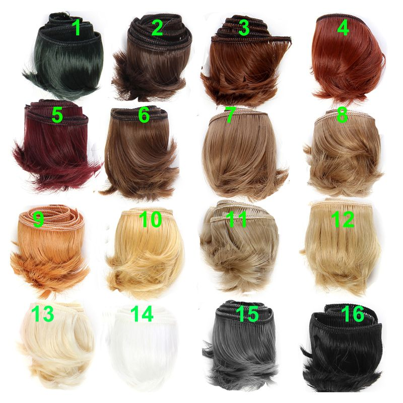 1 Pcs 15cm Doll Wigs Accessories Pear Hairstyle Hair For Dolls Diy Wigs Gift For Baby Girl Toys For Children Toys & Hobbies Dolls Accessories