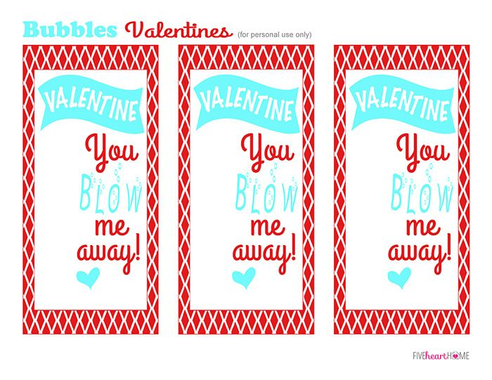 photo about You Blow Me Away Valentine Printable titled Bubbles Valentines No cost Printable ~ Valentine, Yourself Blow Me