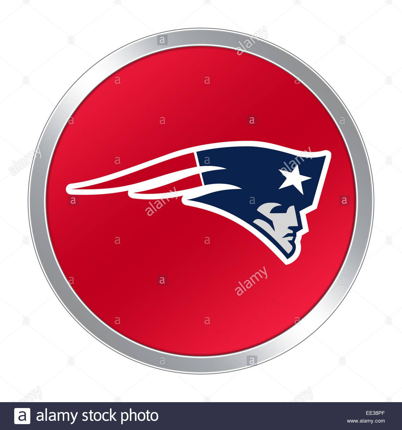 Download This Stock Image New England Patriots Logo Icon Button Ee38pf From Alamy S Library Of M New England Patriots Logo New England Patriots Stock Photos